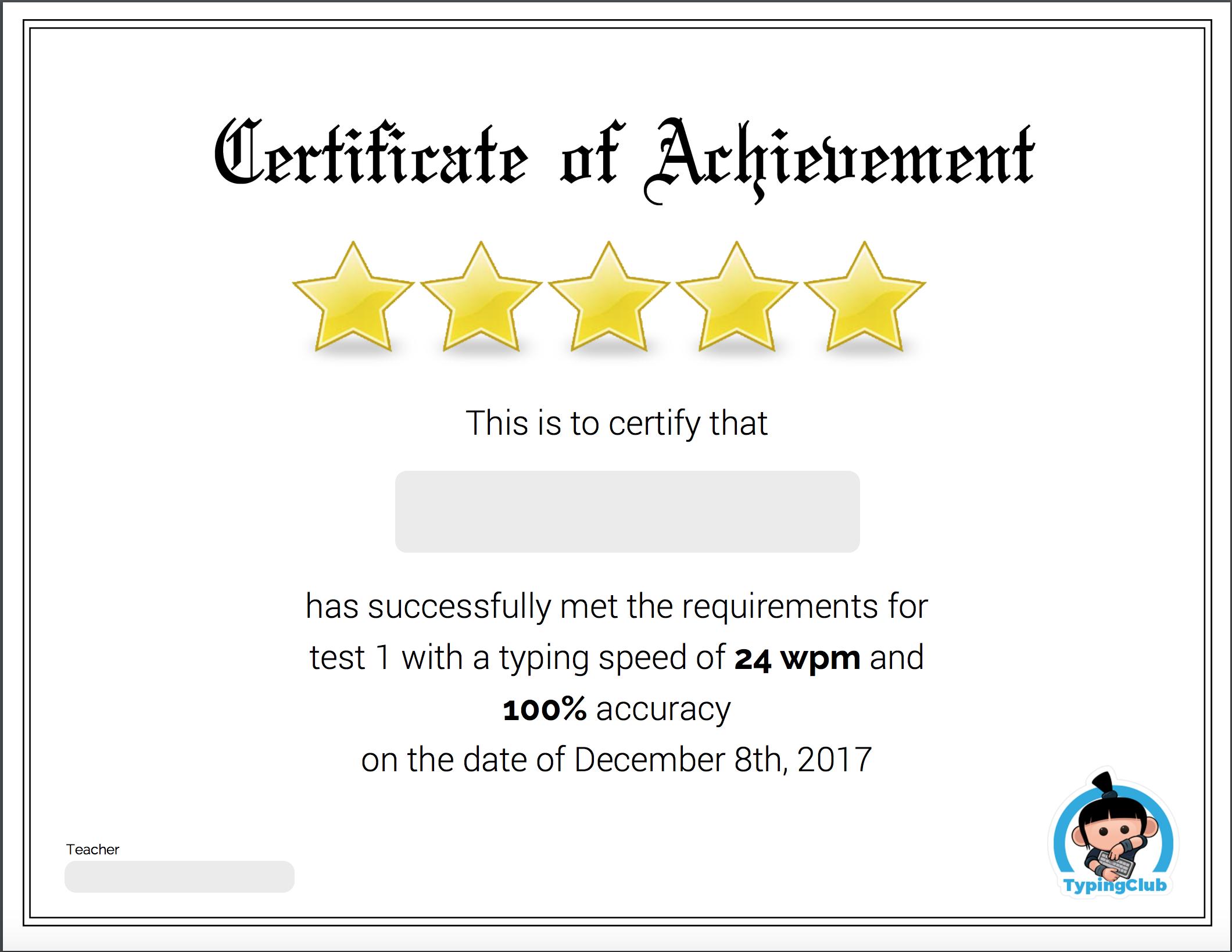 Typing Certificates